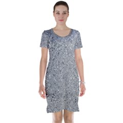 Abstract Flowing And Moving Liquid Metal Short Sleeve Nightdress