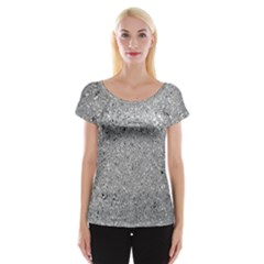 Abstract Flowing And Moving Liquid Metal Women s Cap Sleeve Top