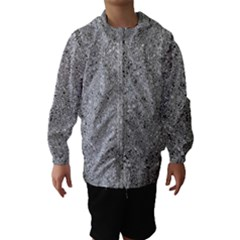 Abstract Flowing And Moving Liquid Metal Hooded Wind Breaker (kids)