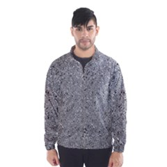Abstract Flowing And Moving Liquid Metal Wind Breaker (men)