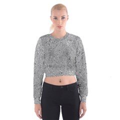 Abstract Flowing And Moving Liquid Metal Women s Cropped Sweatshirt