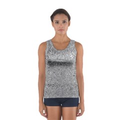 Abstract Flowing And Moving Liquid Metal Women s Sport Tank Top