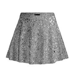 Abstract Flowing And Moving Liquid Metal Mini Flare Skirt