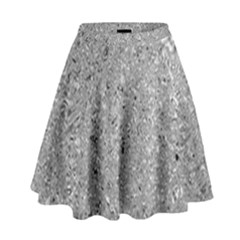 Abstract Flowing And Moving Liquid Metal High Waist Skirt