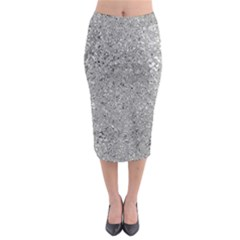Abstract Flowing And Moving Liquid Metal Midi Pencil Skirt