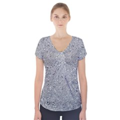Abstract Flowing And Moving Liquid Metal Short Sleeve Front Detail Top