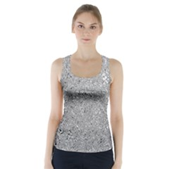 Abstract Flowing And Moving Liquid Metal Racer Back Sports Top