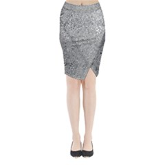 Abstract Flowing And Moving Liquid Metal Midi Wrap Pencil Skirt