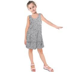 Abstract Flowing And Moving Liquid Metal Kids  Sleeveless Dress