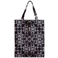 Modern Oriental Pattern Zipper Classic Tote Bag