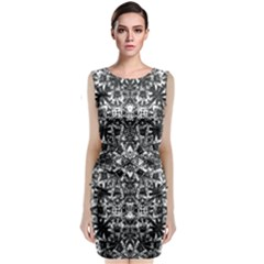Modern Oriental Pattern Classic Sleeveless Midi Dress