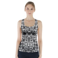 Modern Oriental Pattern Racer Back Sports Top
