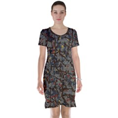 A Complex Maze Generated Pattern Short Sleeve Nightdress