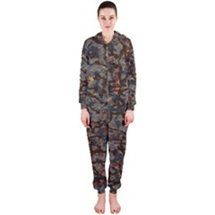 A Complex Maze Generated Pattern Hooded Jumpsuit (ladies)