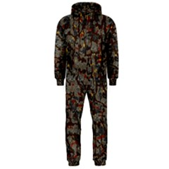 A Complex Maze Generated Pattern Hooded Jumpsuit (men)