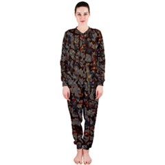 A Complex Maze Generated Pattern Onepiece Jumpsuit (ladies)
