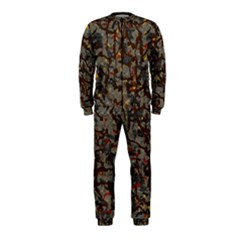 A Complex Maze Generated Pattern Onepiece Jumpsuit (kids)