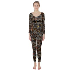 A Complex Maze Generated Pattern Long Sleeve Catsuit
