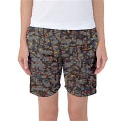 A Complex Maze Generated Pattern Women s Basketball Shorts