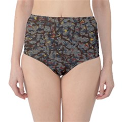 A Complex Maze Generated Pattern High Waist Bikini Bottoms