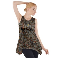 A Complex Maze Generated Pattern Side Drop Tank Tunic