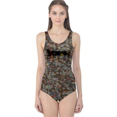 A Complex Maze Generated Pattern One Piece Swimsuit