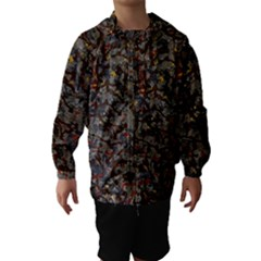 A Complex Maze Generated Pattern Hooded Wind Breaker (kids)