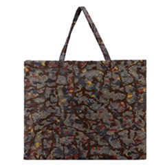 A Complex Maze Generated Pattern Zipper Large Tote Bag
