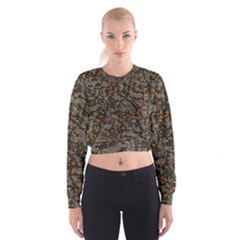 A Complex Maze Generated Pattern Women s Cropped Sweatshirt