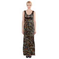 A Complex Maze Generated Pattern Maxi Thigh Split Dress