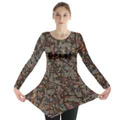 A Complex Maze Generated Pattern Long Sleeve Tunic