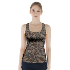 A Complex Maze Generated Pattern Racer Back Sports Top