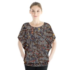 A Complex Maze Generated Pattern Blouse