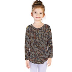 A Complex Maze Generated Pattern Kids  Long Sleeve Tee