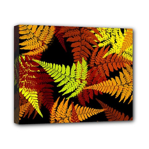 3d Red Abstract Fern Leaf Pattern Canvas 10  x 8