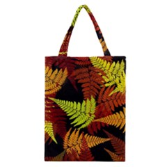 3d Red Abstract Fern Leaf Pattern Classic Tote Bag