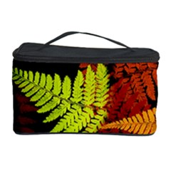 3d Red Abstract Fern Leaf Pattern Cosmetic Storage Case