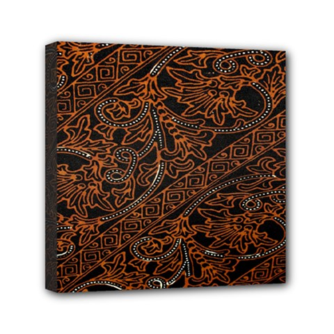 Art Traditional Indonesian Batik Pattern Mini Canvas 6  x 6