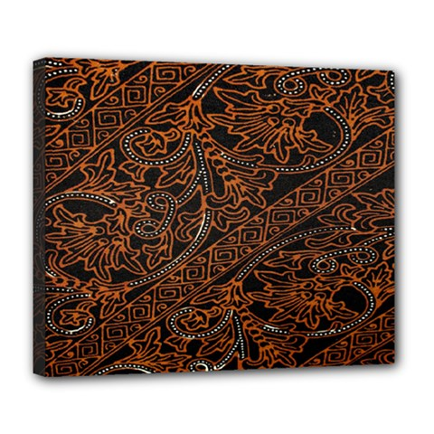 Art Traditional Indonesian Batik Pattern Deluxe Canvas 24  x 20