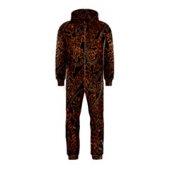Art Traditional Indonesian Batik Pattern Hooded Jumpsuit (kids)