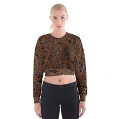 Art Traditional Indonesian Batik Pattern Women s Cropped Sweatshirt