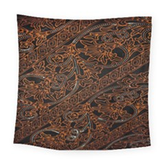 Art Traditional Indonesian Batik Pattern Square Tapestry (large)