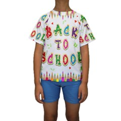 Back To School Kids  Short Sleeve Swimwear