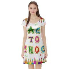Back To School Short Sleeve Skater Dress