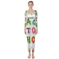 Back To School Long Sleeve Catsuit