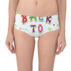 Back To School Mid Waist Bikini Bottoms