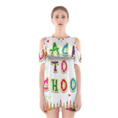 Back To School Shoulder Cutout One Piece
