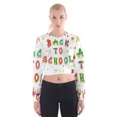 Back To School Women s Cropped Sweatshirt