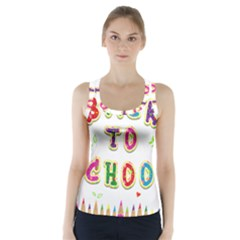 Back To School Racer Back Sports Top