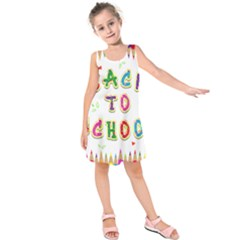 Back To School Kids  Sleeveless Dress